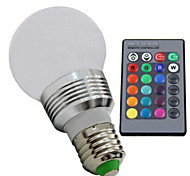 E273W 85V-265VRGB Remote Control Intelligent Light Color LED Energy-Saving Bulb