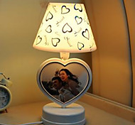 Fashion Double Peach Heart Photo Frame Lamp