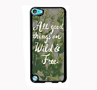 Wild & Free Design Aluminum High Quality Case for iPod Touch 5