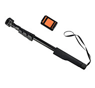 Top Quality Wireless Zoomed Aluminum Monopod Selfie Stick Foldable Handheld Stick Size:49X5.5X4.5cm