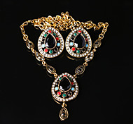 Z&X® Bohemian Vintage Water Dorp  Alloy Jewelry Set Party/Casual 1set