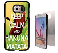 Hakuna Matata Design Aluminum High Quality Case for Samsung Galaxy S6 SM-G920F