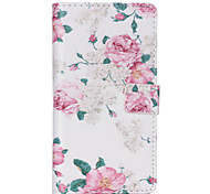 Pink Flowers Pattern PU leather phone Case For Huawei P8 Lite