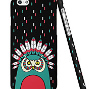ESR® Illustrators Series Cute Cartoon Owl Indian Chief Hard Back Cover for iPhone 6 (Vibrant Indian)