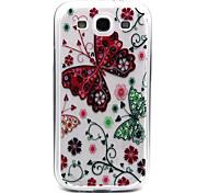 rote Schmetterling Muster TPU Acryl weiche Tasche für Samsung-Galaxie S3 / S4-Galaxie / galaxy s5 / galaxy S6 / S6 Galaxie Rand