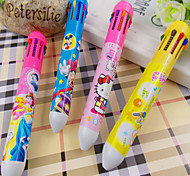 2pcs New Hellokitty 10 Color Ball Pen(Random Color)
