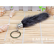 Fashion Genuine Fox Fur Key Chain Fox Fur Mink Keychain Key Ring FUR Key Chain Car Key Chain