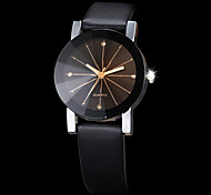 Couple's Korean Fashion Strip Belt Personality Gear Dial Circular Quartz Watches