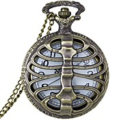 Fashion Hollow Out Bone Shape Vintage Alloy Quartz Analog Pocket Watch With Chains  (1 x LR626)