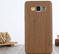 For Samsung Galaxy Case Pattern Case Back Cover Case Wood Grain PU Leather Samsung A7 / A5 / A3