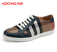 Aokang Men's Shoes Outdoor/Athletic/Casual Fabric Fashion Sneakers Black/Blue