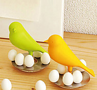 Sparrow Bird with 8 Magnetic Eggs Refrigerator Magnets Desktop Decor Attaching Note (Random Color)