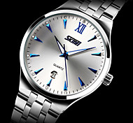 SKMEI Men and Women's Stainless Steel Waterproof Luminous Business Quartz Watch Fashion Calendar Watch (more colors)