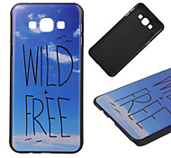 Wild And Free Pattern PC Hard Back Cover Case for Samsung Galaxy A8
