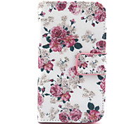 Floral Pattern PU Leather TPU Full Body Case with Card Holder for Samsung Galaxy Core Prime G360
