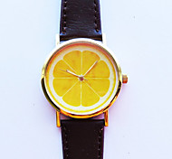 Lemon Slice Fruit Watch  Leather Watch Women Watches Unisex Watch Boyfriend Watch Men'S Watch Ladies Watch Cool Watches Unique Watches