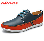 Aokang Men's Shoes Outdoor/Athletic/Casual Leather Fashion Sneakers Brown/Green