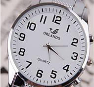 Men's Wrist watch Quartz Alloy Band Black White Blue Silver