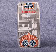 TPU acrílico patrón del mono laberinto cubierta suave para el iphone 6 más