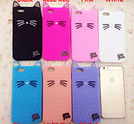 New Diamond Cat Ears Cute Cat Silica Gel Shell for iPhone 6S Plus/6 Plus(Assorted Colors)