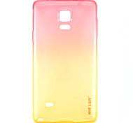 KST Crystal Love Pink Gradient to Yellow TPU Back Cover Case for Samsung Galaxy Note4