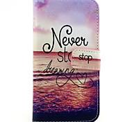 Dream-Seeker Pattern PU Leather TPU Full Body Case with Card Holder for Samsung Galaxy E7/E5