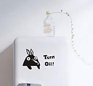 multifunções forma de coelho pvc adesivos decorativos