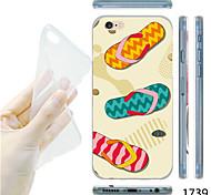 MAYCARI®Flip-flops Pattern TPU Soft Transparent Back Case for iPhone 6