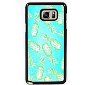 ananas ontwerp slanke metalen achterkant van de behuizing voor Samsung Galaxy Note 3 / noot 4 / note 5 / note 5 rand