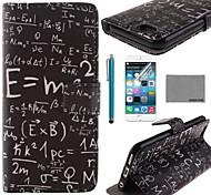 caja de cuero de la PU de las matemáticas fórmula Coco Fun® con protector de pantalla y el cable USB y la aguja para el iphone 6s más / 6 más