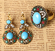 Z&X® Vintage Hollow Out Alloy Jewelry Set Party/Casual 1set