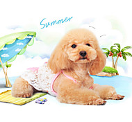 White Mixed Material Dresses For Dogs