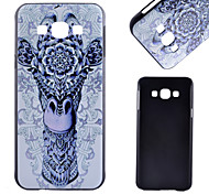 Blue Giraffe Pattern PC Material Cell Phone Case for Samsung Galaxy A8