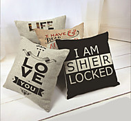 Printed Couples Pillow Cushion Cover  (17*17inch)