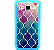 Baby Blue Diamond Pattern TPU Acrylic Soft Case for Samsung Galaxy J1/ Galaxy J5/Galaxy J7