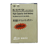 Mini smile™ Replacement Decoded High-Capacity 3.85V 3800mAh Li-ion Battery for LG G4 / H818 / BL-51YF - Golden