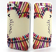Pencil Smile Heart Pattern TPU Soft Full Body Cover Case for iPhone 4/4S