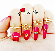 New Arrival Fashional Popular Letter LOVE Rings A Set