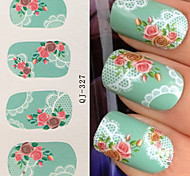 Water Transfer Printing lace  Rose Nail Stickers