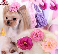 Cat / Dog Hair Accessories / Hair Bow Pink / Rose Spring/Fall Wedding / Cosplay