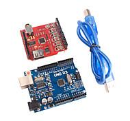 sb-sd mp3 escudo e melhorada versão uno placa r3 ATmega328P para placa de expansão arduino