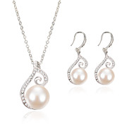 Fashion Pearl Diamond Jewelry Set