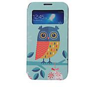 uil patroon window card case voor Samsung Galaxy S5 / s4