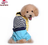 FUN OF PETS® Lovely Stripe Design Polo Shirt for Winter with Pants for Pets Dogs (Assorted Sizes and Colours)