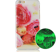 The Big Red Flowers Pattern Luminous Back Case Cover for iphone5C