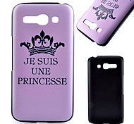 Crown Pattern Black Matte PC Material Phone Case for Alcatel C9/C7/C5