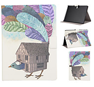 Peacock House Pattern PU Leather Full Body Case with Stand Slot for T530/T550/T800