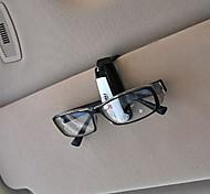 automobile occhiali da sole visiera universali da sole clip di titolare del biglietto carta (colore casuale)