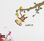 Multifunction DIY PVC Monkey Pattern Decorative Stickers