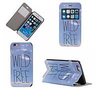 céu azul padrão caso de telefone janela de couro pu para iphone 6